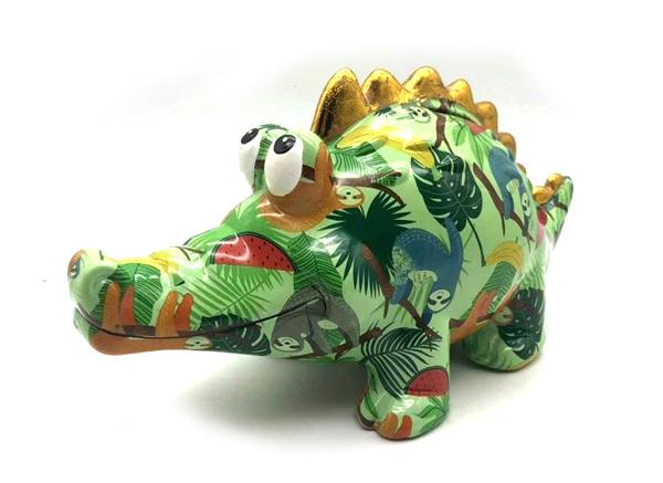 קישוט דינודאור צבעוני מעיסת נייר