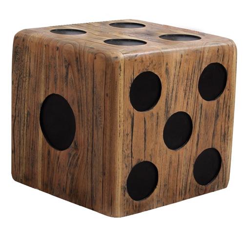 שולחן צד קובייה עשוי מעץ מלא